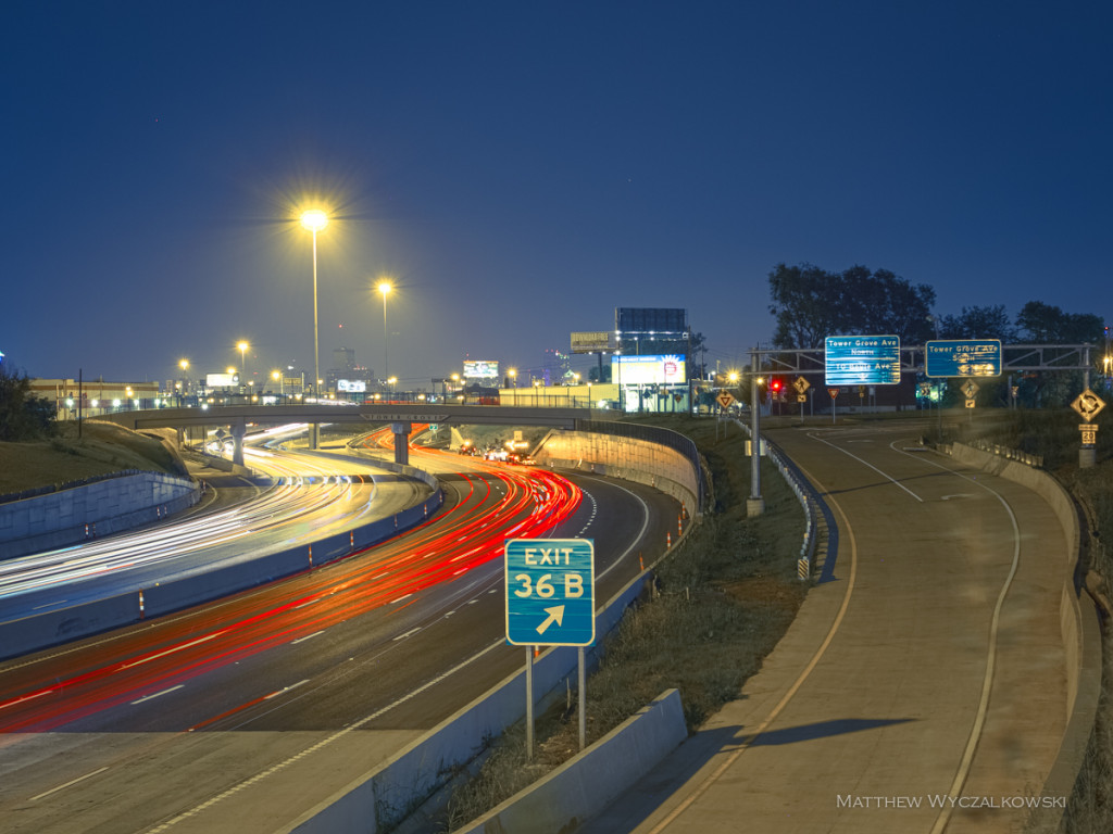 The I-64 interchange at Tower Grove Avenue is open to traffic.